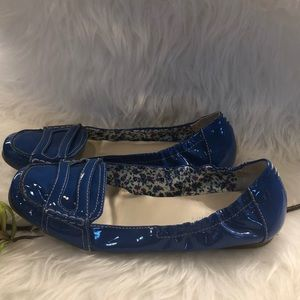 Etienne Aigner bright blue Whistle driving shoes